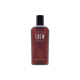 AMERICAN CREW 3-in-1 Shampoo, Conditioner, and Body Wash 15.2 fl oz / 450 ml