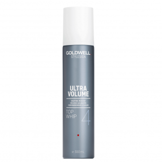 GOLDWELL StyleSign Ultra Volume Shaping Mousse, Top Whip 4, 9.9 fl oz / 295 ml