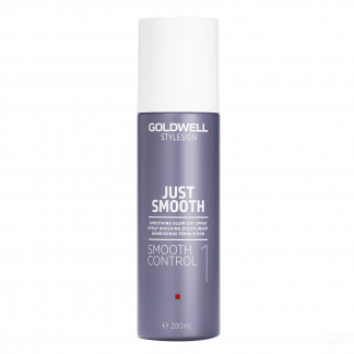 GOLDWELL StyleSign Just Smooth Smoothing Blow Dry Spray, Smooth Control 1, 6.7 fl oz / 200 ml